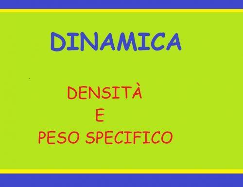 DENSITÀ E PESO SPECIFICO