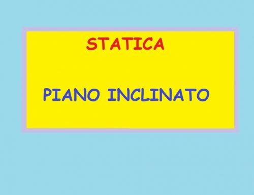 STATICA – PIANO INCLINATO